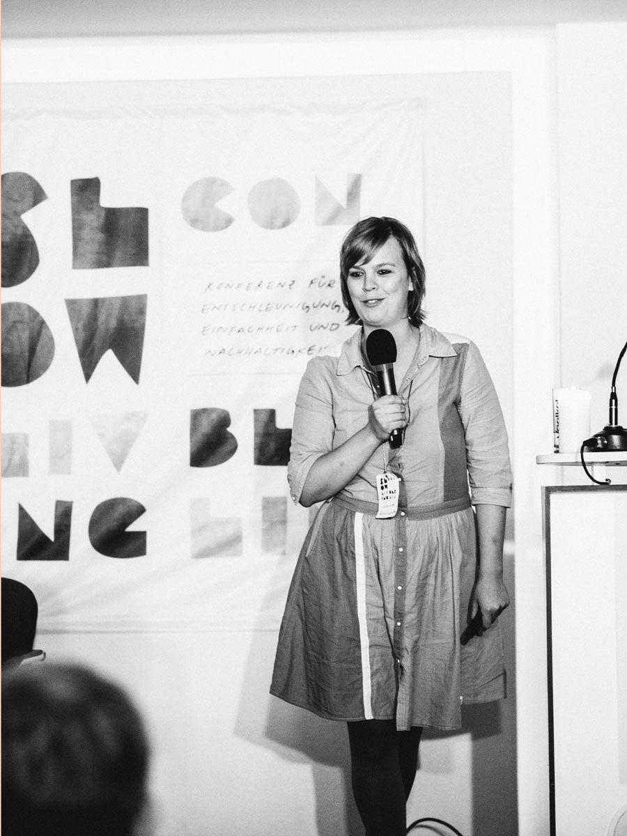 Laura Roschewitz referiert auf der Slow Living Conference 2014  Fotos von www.gemueseregal.de