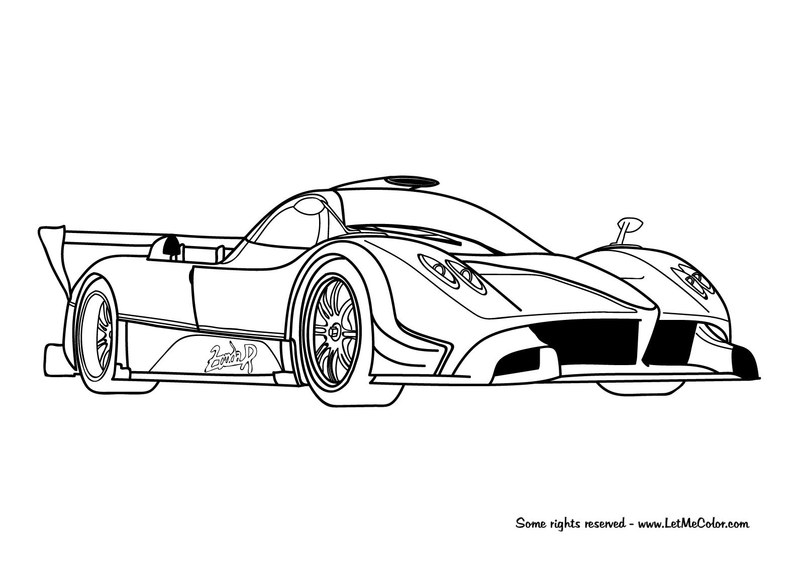Cars Coloring Page Pagani Zonda R