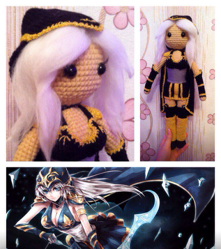 Готовая  #Ashe из игры #leagueoflegends ❤ #weamigurumi #weamiguru #leagueleaders #cute #crochet #knitting #lol #amigurumi #toy #league #cosplay #gamer #riotgames #championleague #games #вязание #амигуруми #fluffywool #moba #ashecosplay #adc #leagueofgamers