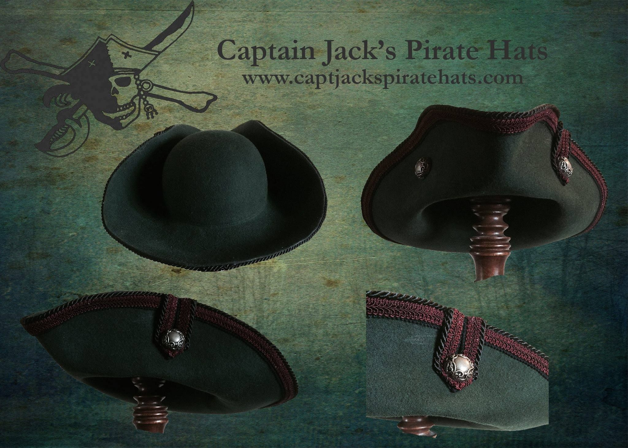 Buccaneer Pirata Hybrid Custom Made Handcrafted Authentic Pirate Hats By Master Hatter Jeff Mackay Real Pirates Real Hats The Hat Pirate Hats Jack Hat Hats