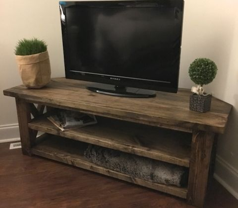 Corner Media Center Build A Tv Stand Tv Stand Plans Diy Tv Stand