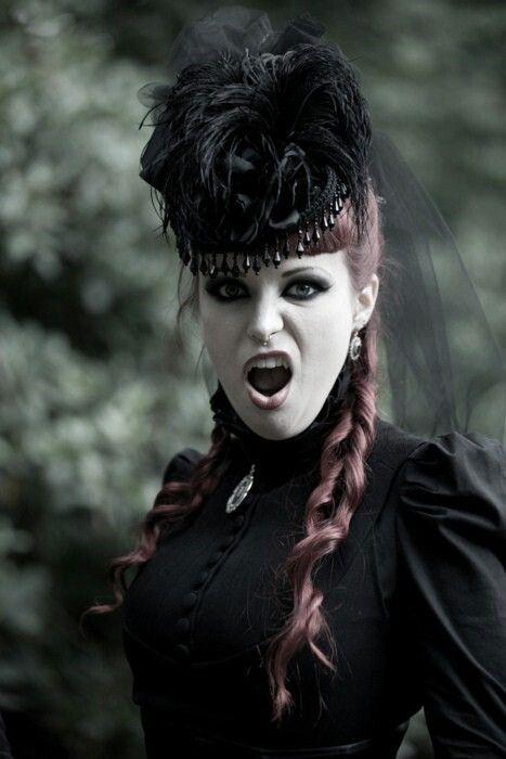 Victorian Goth Gotik Frisuren Dunnes Haar Frauen Haar Styling