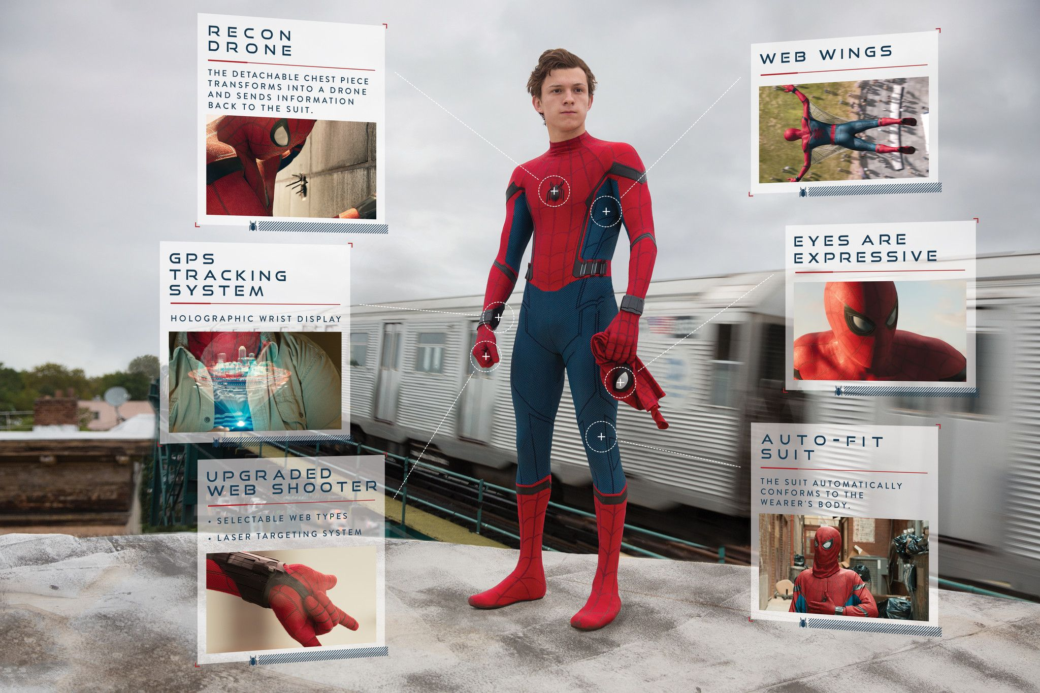 "For the Fellas. ""Mr. Incredible: Where's My Supersuit?!"" ""A sneak peek at Peter Parker's new suit from ""Spider-Man: Homecoming."" 2017"