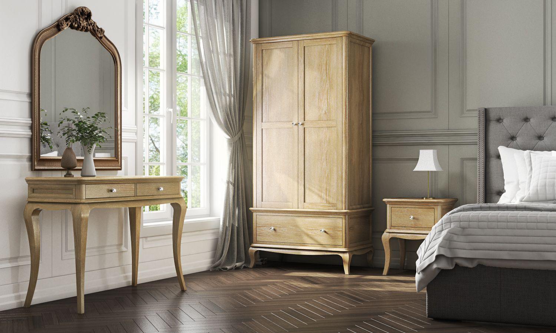 Fonteyn Solid Oak Collection Bedside Table Dressing And 2 Door Wardrobe Solidoakbedroomfurniture
