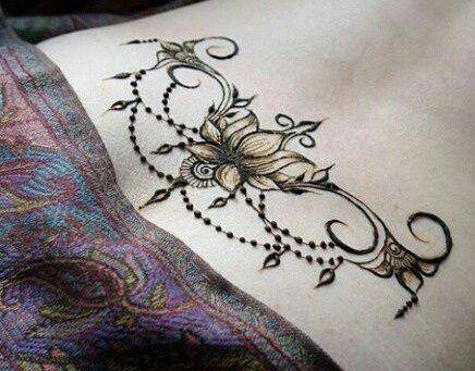عکس از مدل های نقش حنا روی بدن و آموزش تهیه حنا برای طراحی Henna Tattoo Flower Tattoo Henna