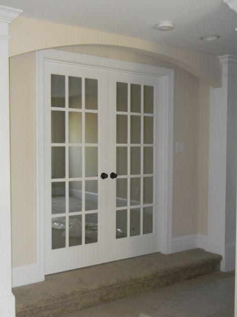 Double 15 Lite French Doors Convert Open Play Room Into A Media Room Fransiz Kapilar Kapilar