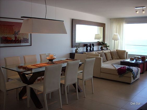 Como decorar sala y comedor en espacios abiertos peque os for Salas modernas en espacios pequenos