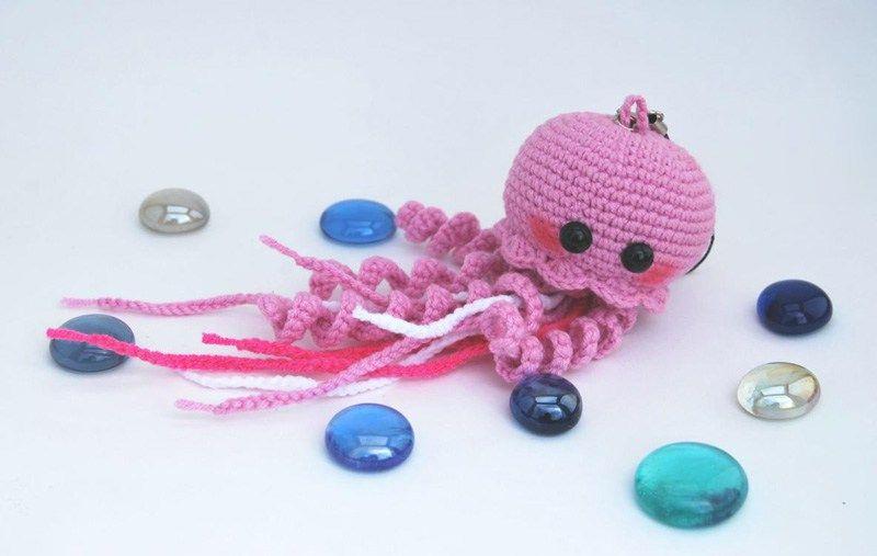 Happy jellyfish amigurumi pattern | Pinterest | Quallen, Amigurumi ...