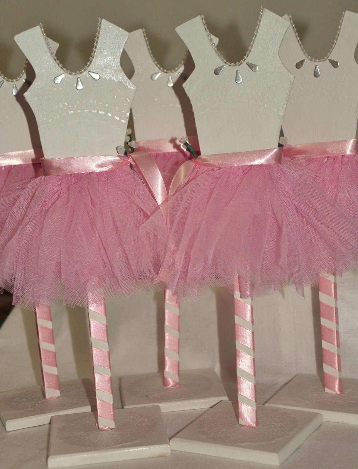 Centros de mesa en forma de vestido de bailarina. | CUMPLE BALLERINA ...