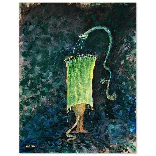 Cat In Obsolete Shower Bath The Art Of Dr Seuss Collection Published By Chaseart Companies Dr Seuss Art Framed Canvas Wall Art Art