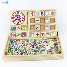 Preskool Bebê Brinquedo Montessori Math Relógio de Aprendizagem Escolar da Educação Na Primeira Infância Brinquedos De Treinamento(China (Mainland))