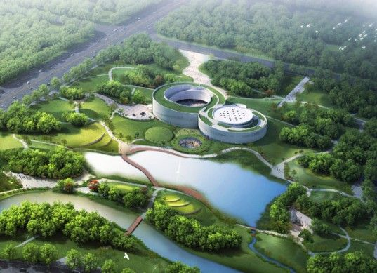 China S Green Roofed Samaranch Memorial Museum Was Inspired By The