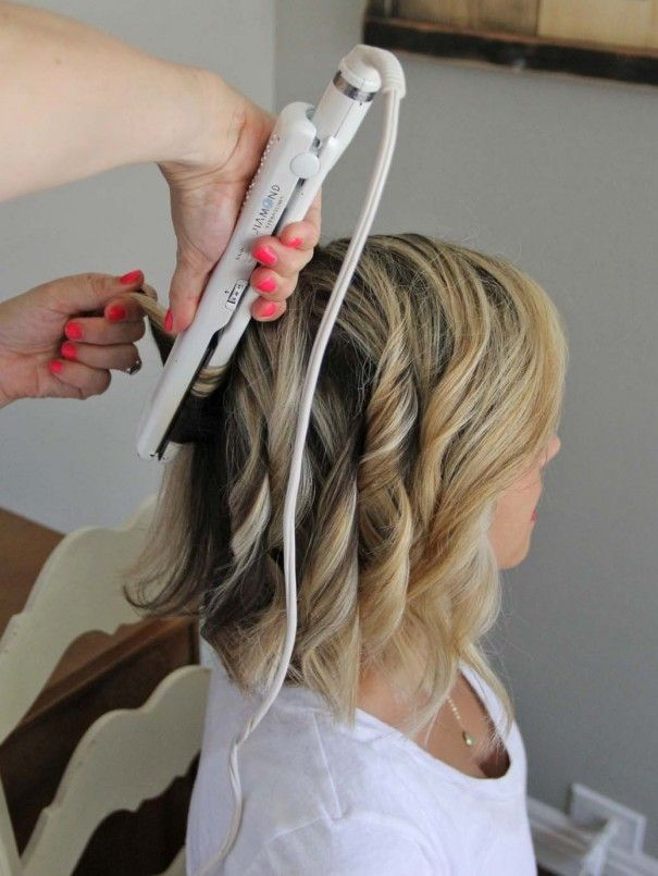 How To Beach Waves For Short Hair Little Miss Momma Short Hair Waves Hair Styles Short Hair Styles