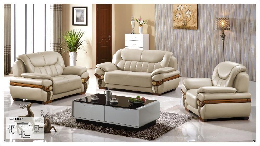 Iexcellent Modern Design Genuine Leather Sectional Sofa Sofa Set