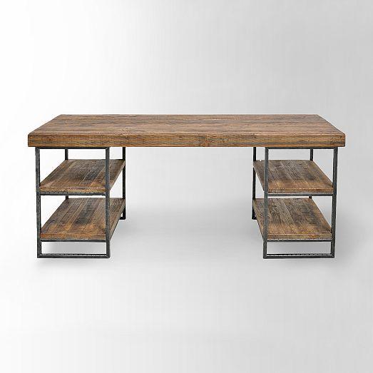 hewn wood desk   desks, woods and bar