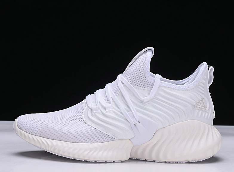 76f5b1b9c Men s and Women s Adidas AlphaBounce All White D97278 Running Shoes – New  Yeezy 2018  trailrunningshoes
