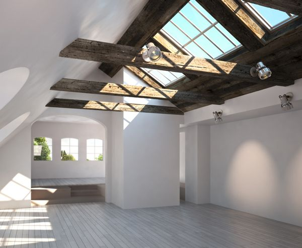 Dachgeschoss Knifflige Beleuchtungsaufgaben clever gelöst Attic