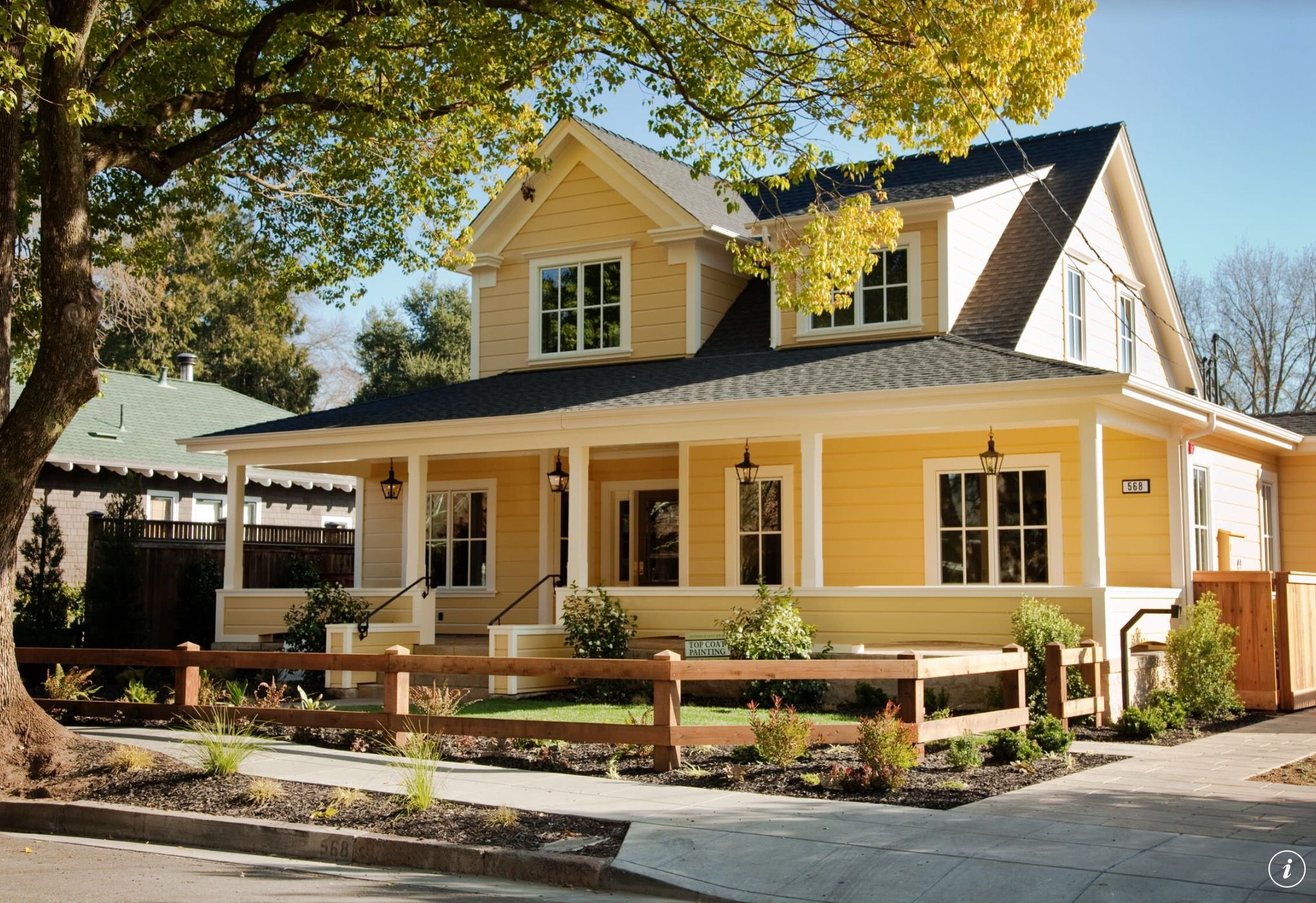 yellow can be a refreshing paint color for the exterior of on exterior house paint colors schemes id=26618