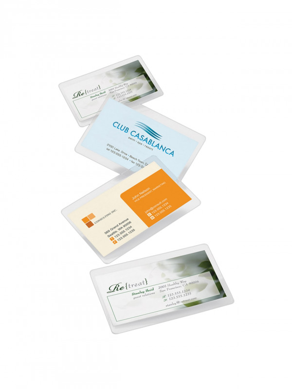 Office Depot Business Card Template New Office Depota Brand Laminating Pouches Business Card Size Office Depot Business Cards Business Card Size Card Template