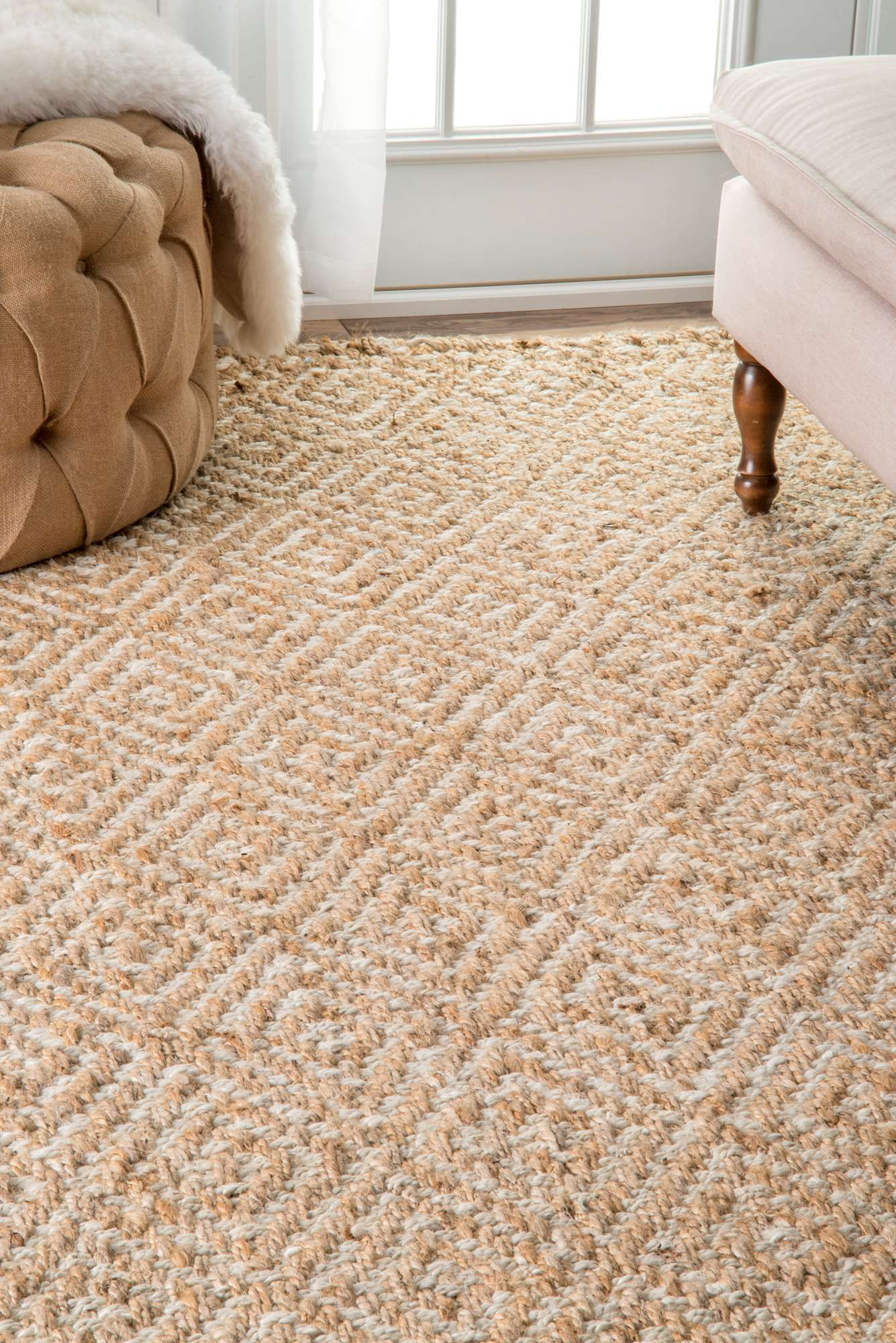 Earthy Organic And Handwoven This Natural Fiber Rug Will Bring A Rustic Charm To