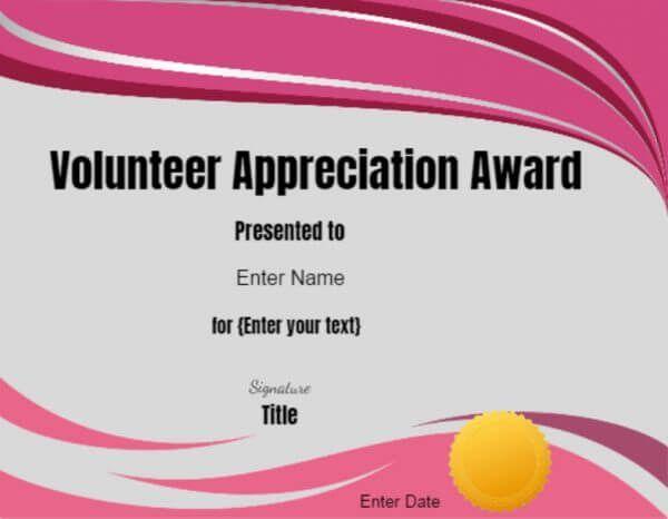 volunteer certificates | Certificates | Pinterest | Certificate ...