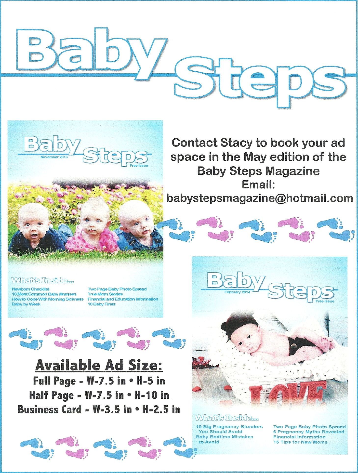 back cover baby steps magazine