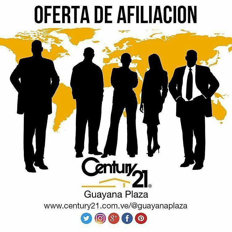 Quieres formar parte de un equipo de trabajo en constante crecimiento Profesional?  Información:  http://bit.ly/C21GPoa  #Guayana #Oferta #Afiliacion #emprendedor  #BienesRaíces  #inmobiliaria  #puertoordaz #pzocity  #Century21  #Venezuela