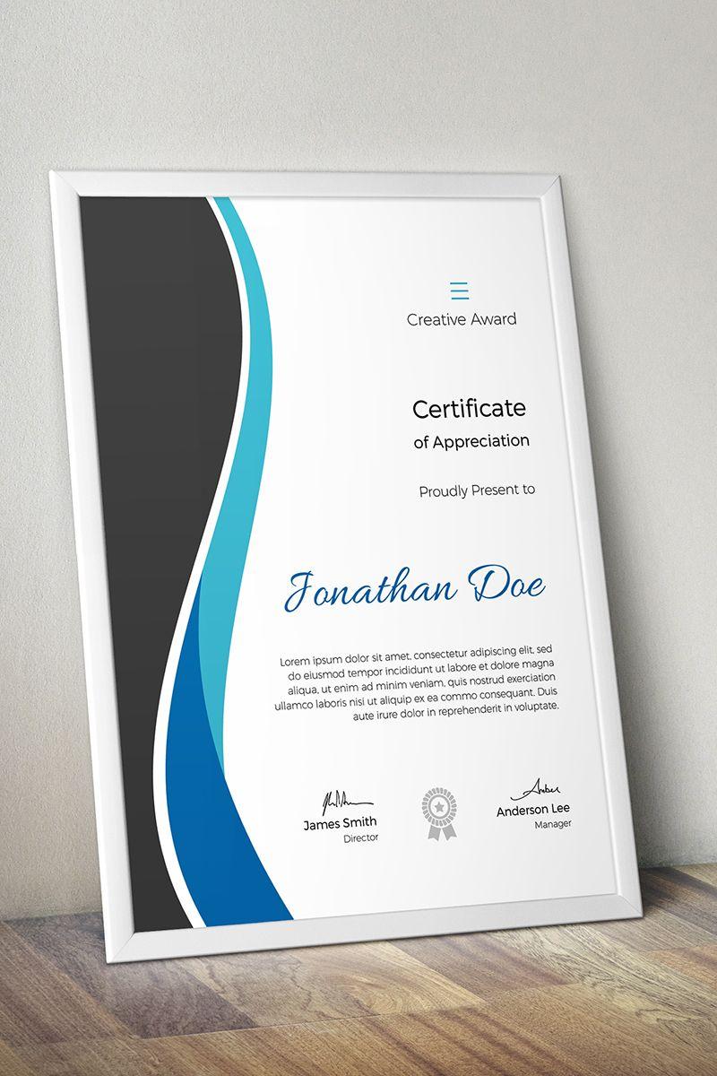 Creative Award Certificate Template Design