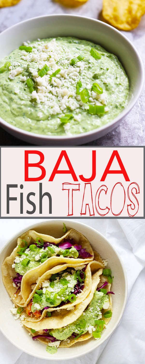 Baja fish tacos with creamy jalape o sauce recipe for Fish taco recipe sauce