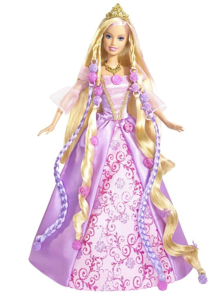 Barbie Cut and Style Rapunzel doll\'s long hair and grow it back over ...