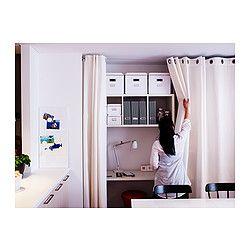 MERETE Gordijnen, 1 paar, gebleekt wit | Ikea shopping, Living rooms ...
