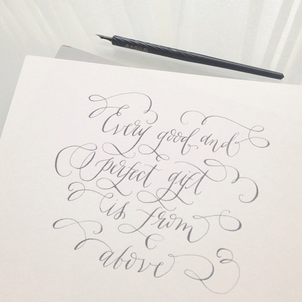 Lovely scripted pinterest calligraphy flourish and