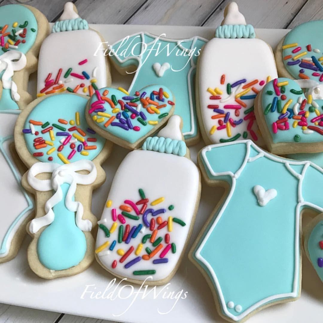 Sprinkle Cookies For A Baby Boy Fieldofwings Latergram Cookies