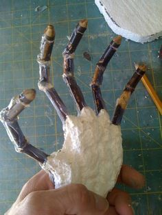 Cheap and easy Skeleton hands - DIY - Halloween decorations/props ...