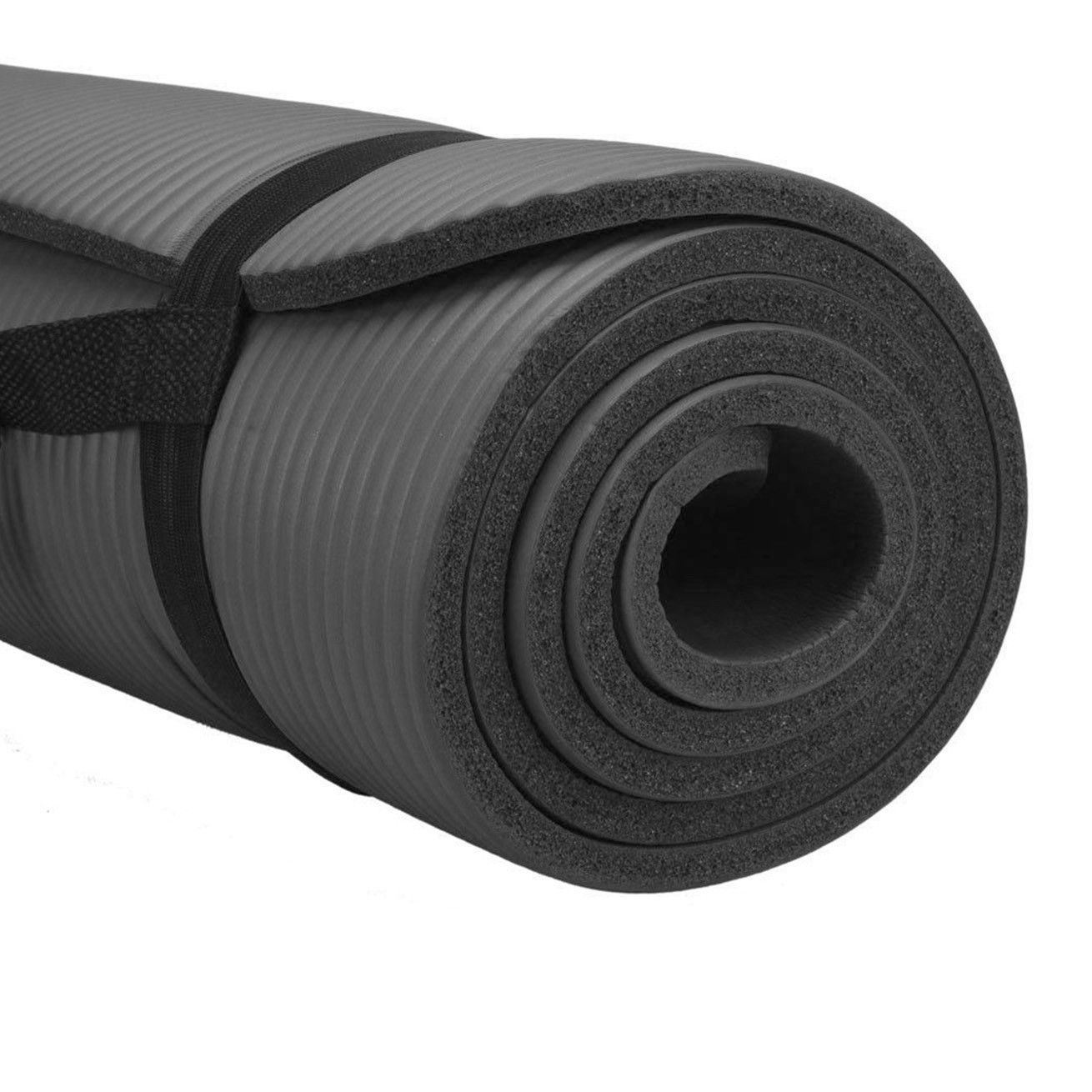 Pure Fitness Deluxe 12mm Exercise Mat (Charcoal)