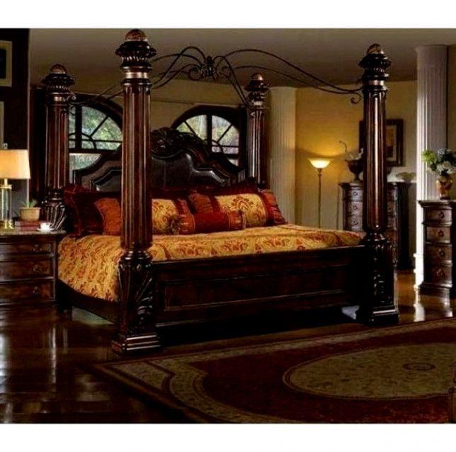 mcferran b6005 rich brown solid hardwood california king