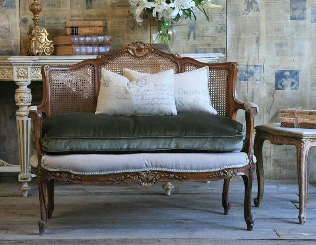 Decorating With French Cane Settees French Country Furniture Home Decor French Country Rug