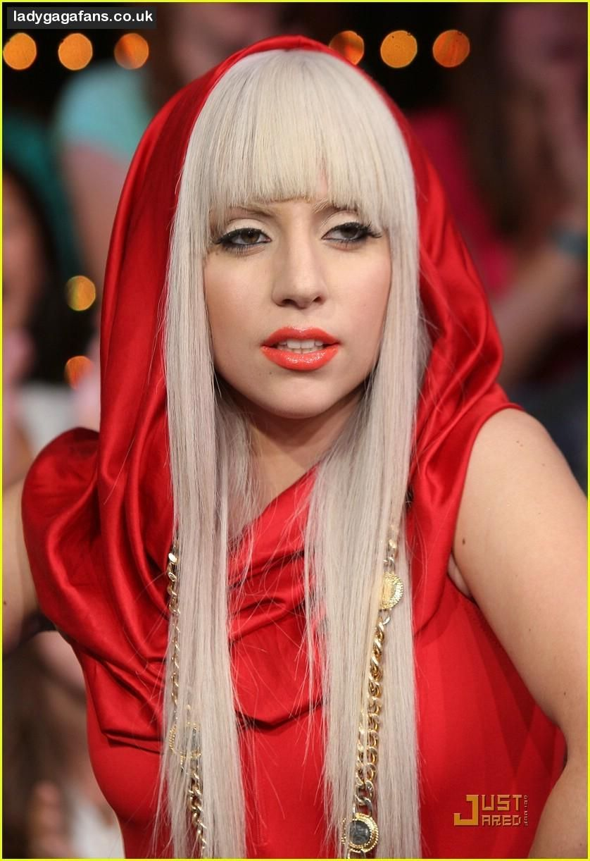 Lady Gaga red hood dress  Favorite Lady Gaga Outfits  Pinterest ...