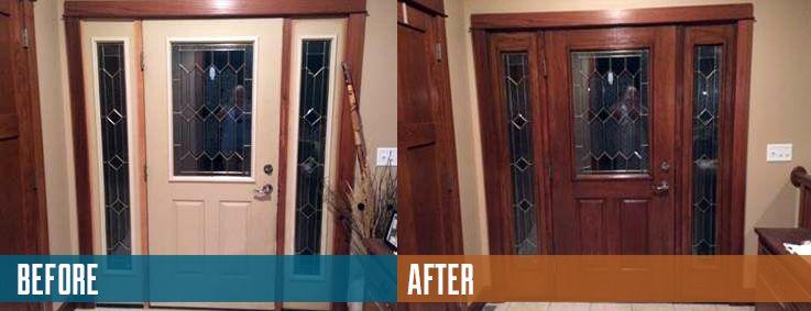 Zar Fiberglass Door Project Staining Your Door To Look Like Wood