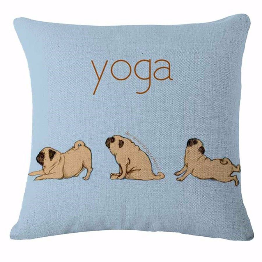 Decorative Dogs Pillow Case - Yoga Pug   Products   Pinterest ...