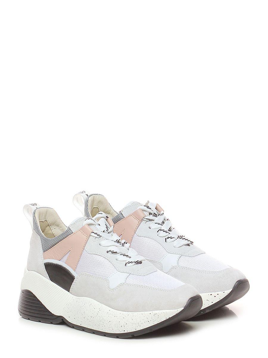 5c905401c0 ... Le Follie Shop. Sneaker in camoscio, pelle e tessuto a retina con suola  in gomma. tacco 60