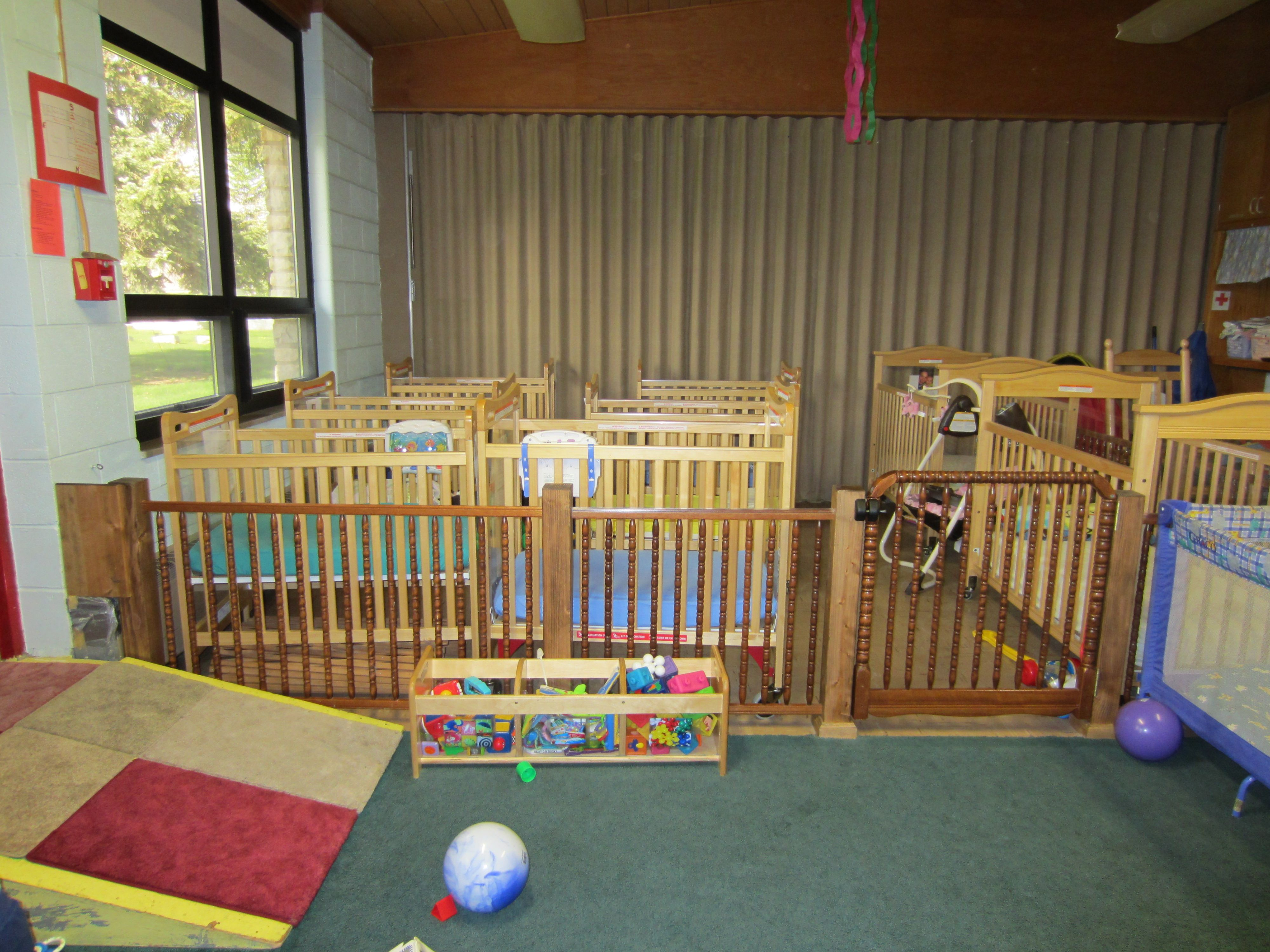 New Uses For Old Cribs Classroom Room Divider Infant Daycare