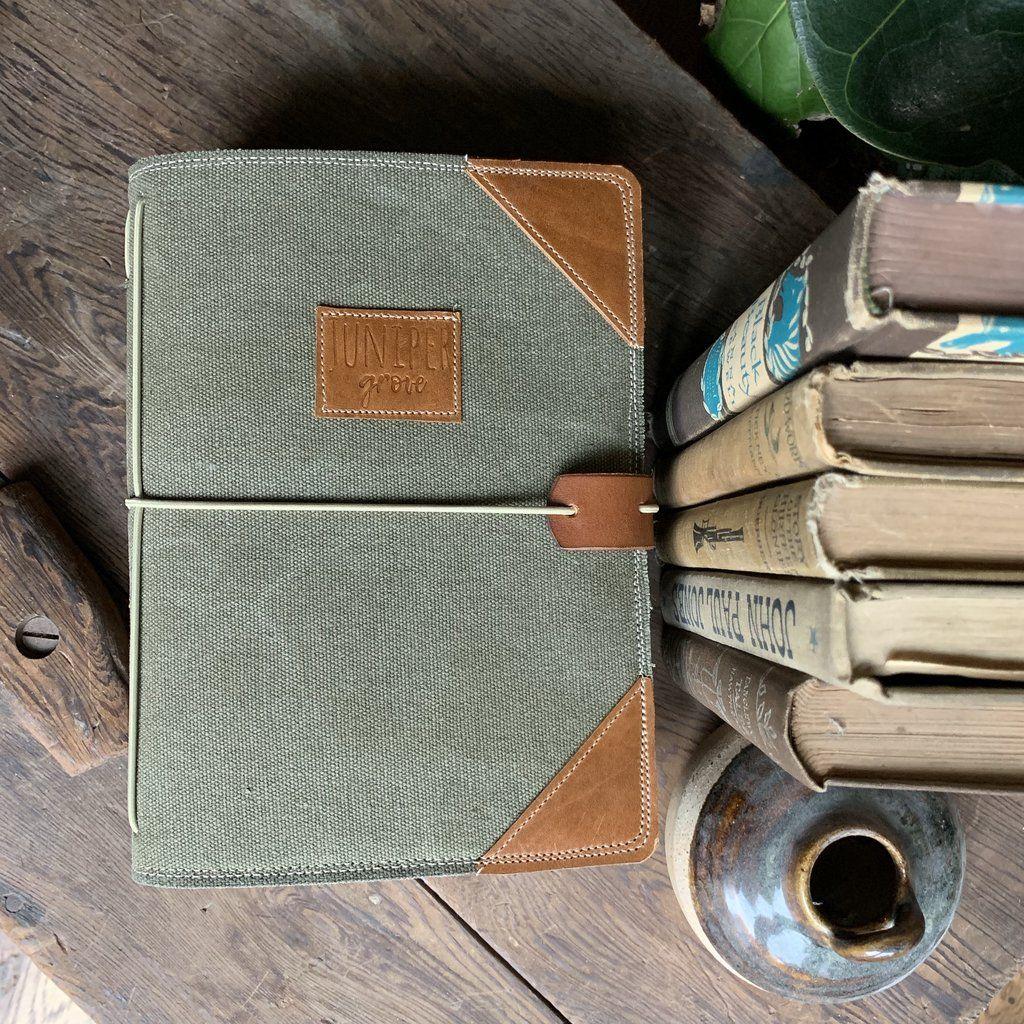 Moss Canvas Juniper Journal In