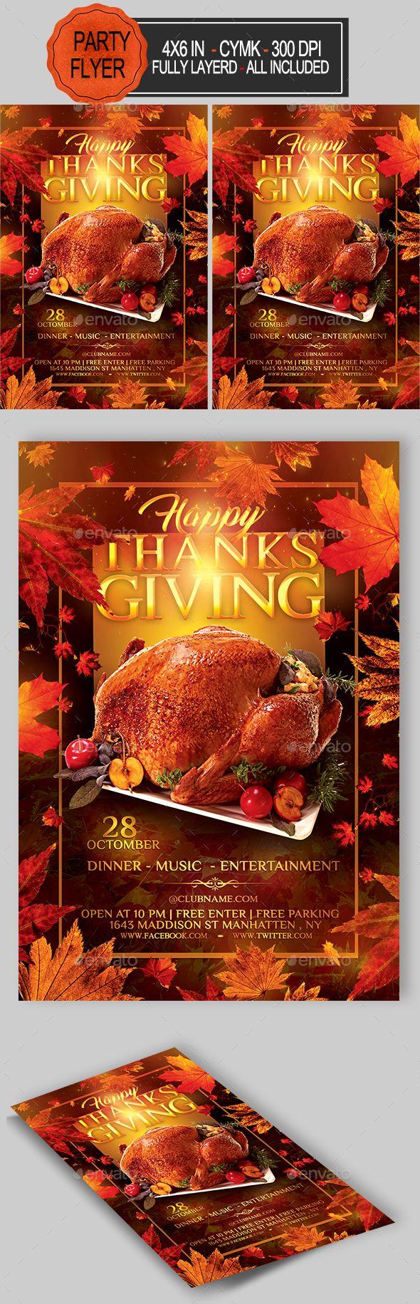 Thanksgiving Flyer Clubs Parties Events Flyer Pinterest