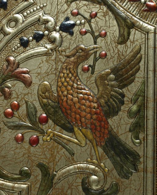 Gilded leather panel (detail) by Lutson Goudleder