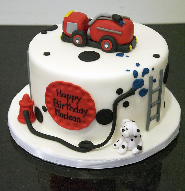 Truck Birthday Cakes, Birthday Cake, Firefighter Birthday Cakes