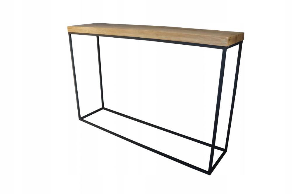 Drewniana Konsola Loft 100 Cm Prawdziwy Dab Decor Home Decor Furniture