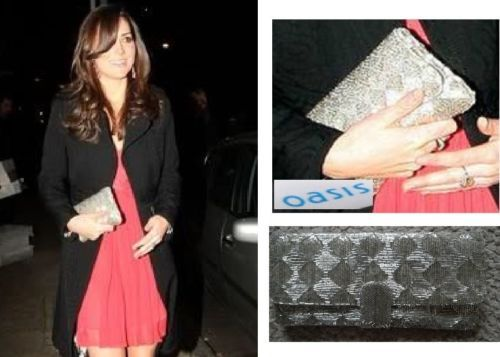 834343c76c30 Kate Middleton with a Oasis vintage silver beaded clutch evening bag as she  attends the Thomas van Straubenzee memorial event, Wilton's Music Hall,  London, ...