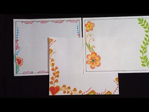 Project work design border on paper easy and amazing for also rh pinterest