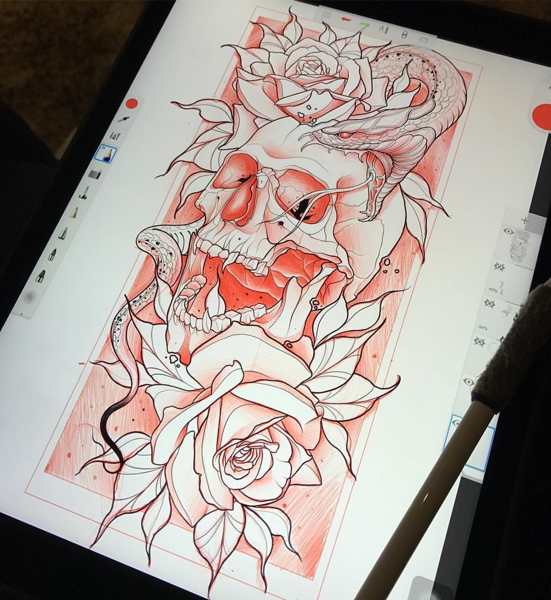 pin af gabriella justenborg p skull tattoo pinterest. Black Bedroom Furniture Sets. Home Design Ideas
